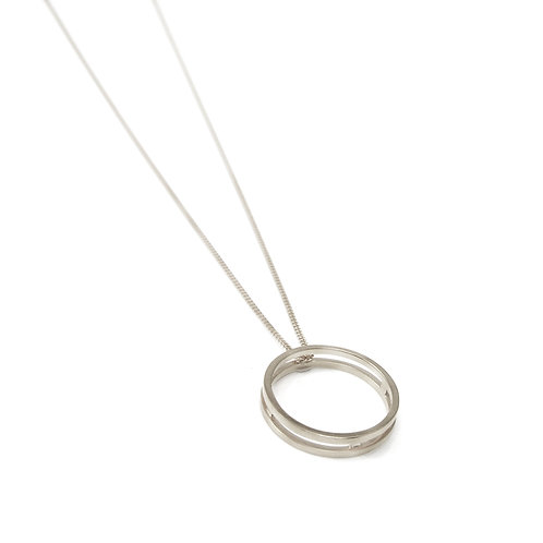 Parallel Silver Ring or Pendant