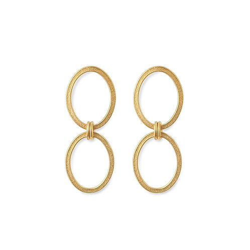Ellipse Small Double Chain Earrings
