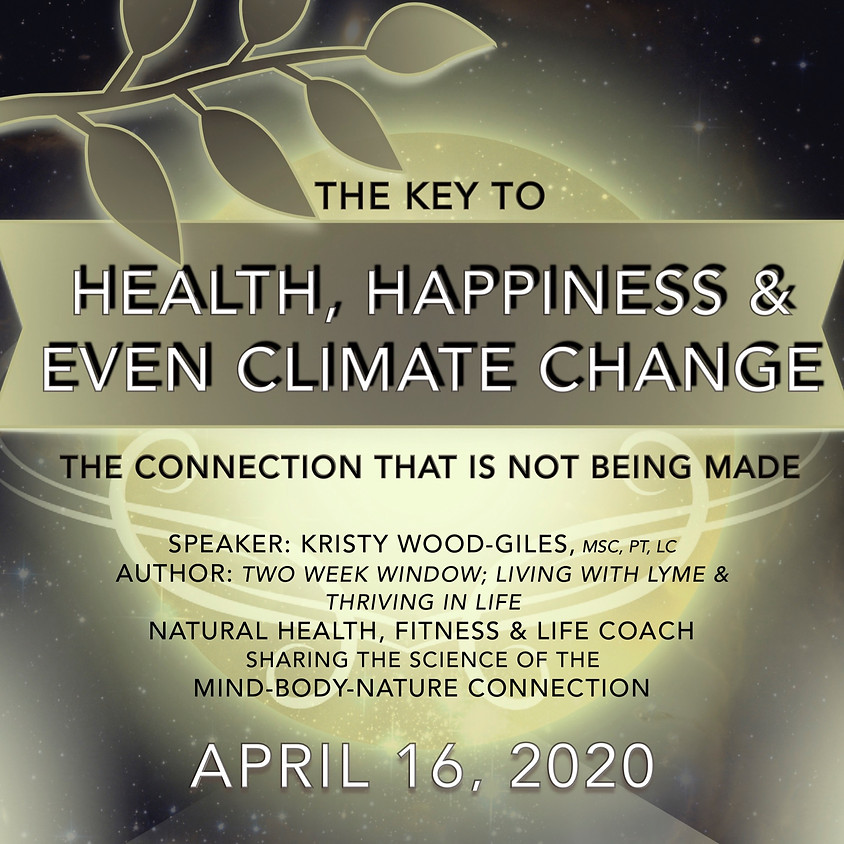 The Key to Health, Happiness and even Climate Change