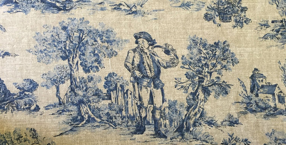 Blue and Natural Toile