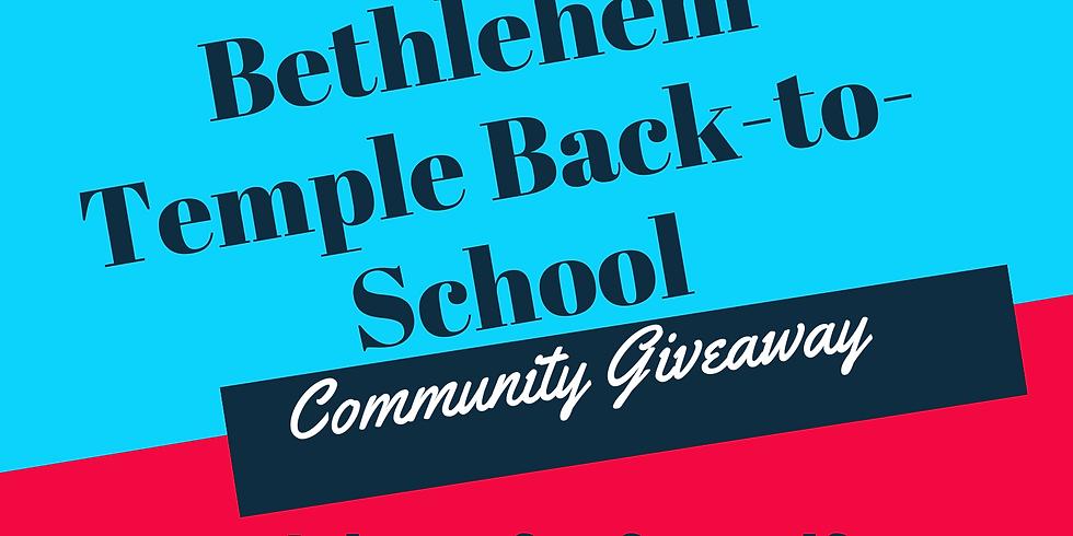 Drive-Thru Back-to-School-Giveaway