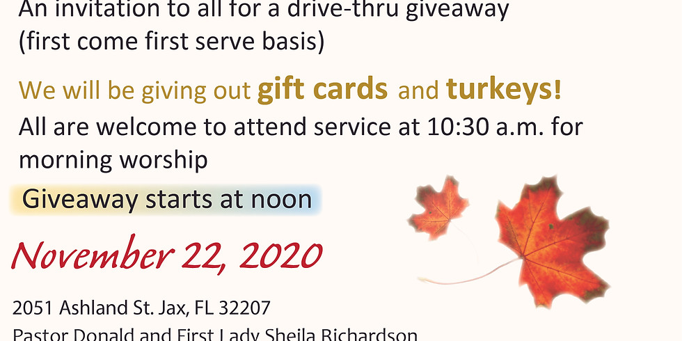 A Time to be Thankful Thanksgiving Service Giveaway