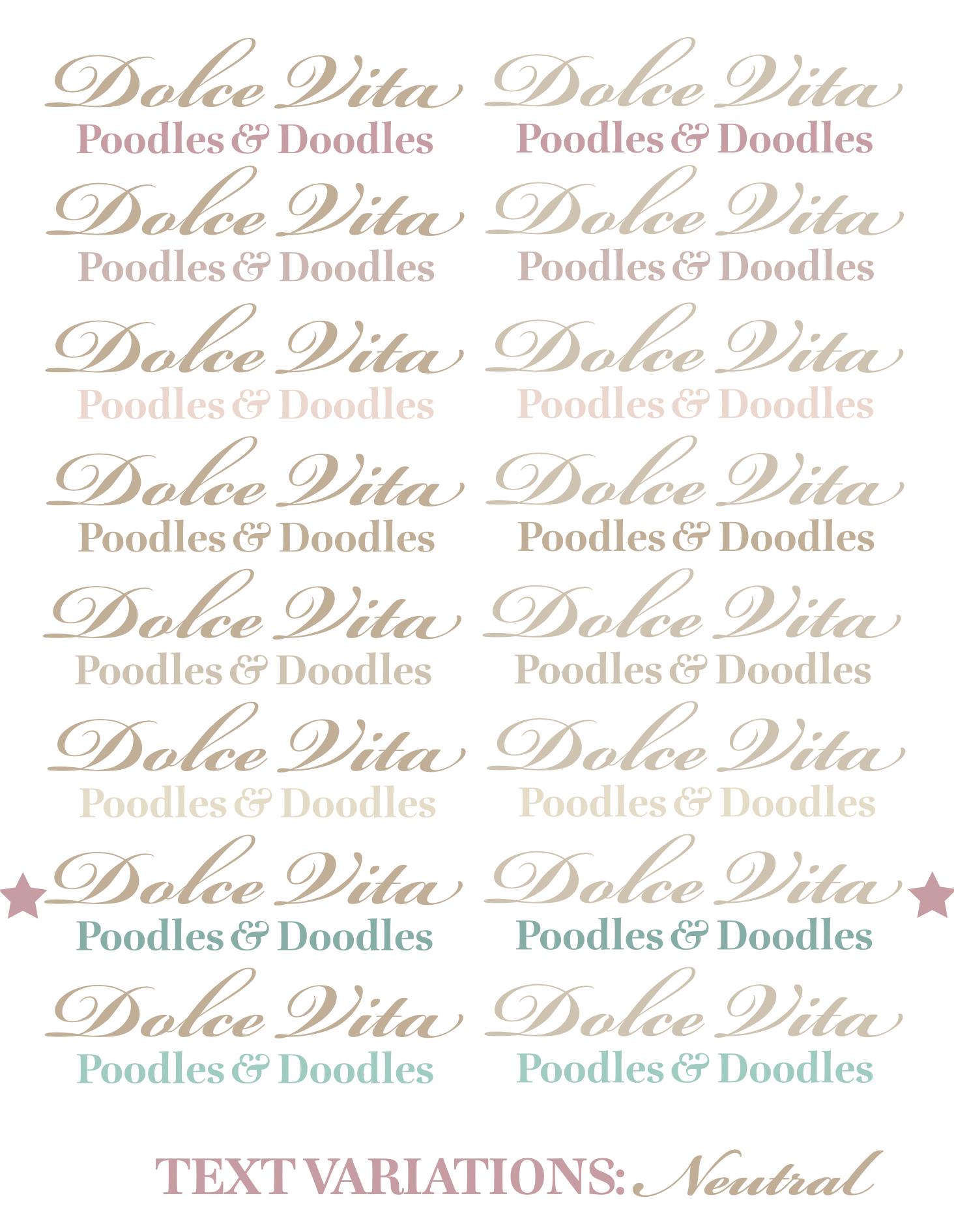 Dolce Vita Text Variations 3