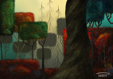 Ancient Forest // Eyvind Earle Study