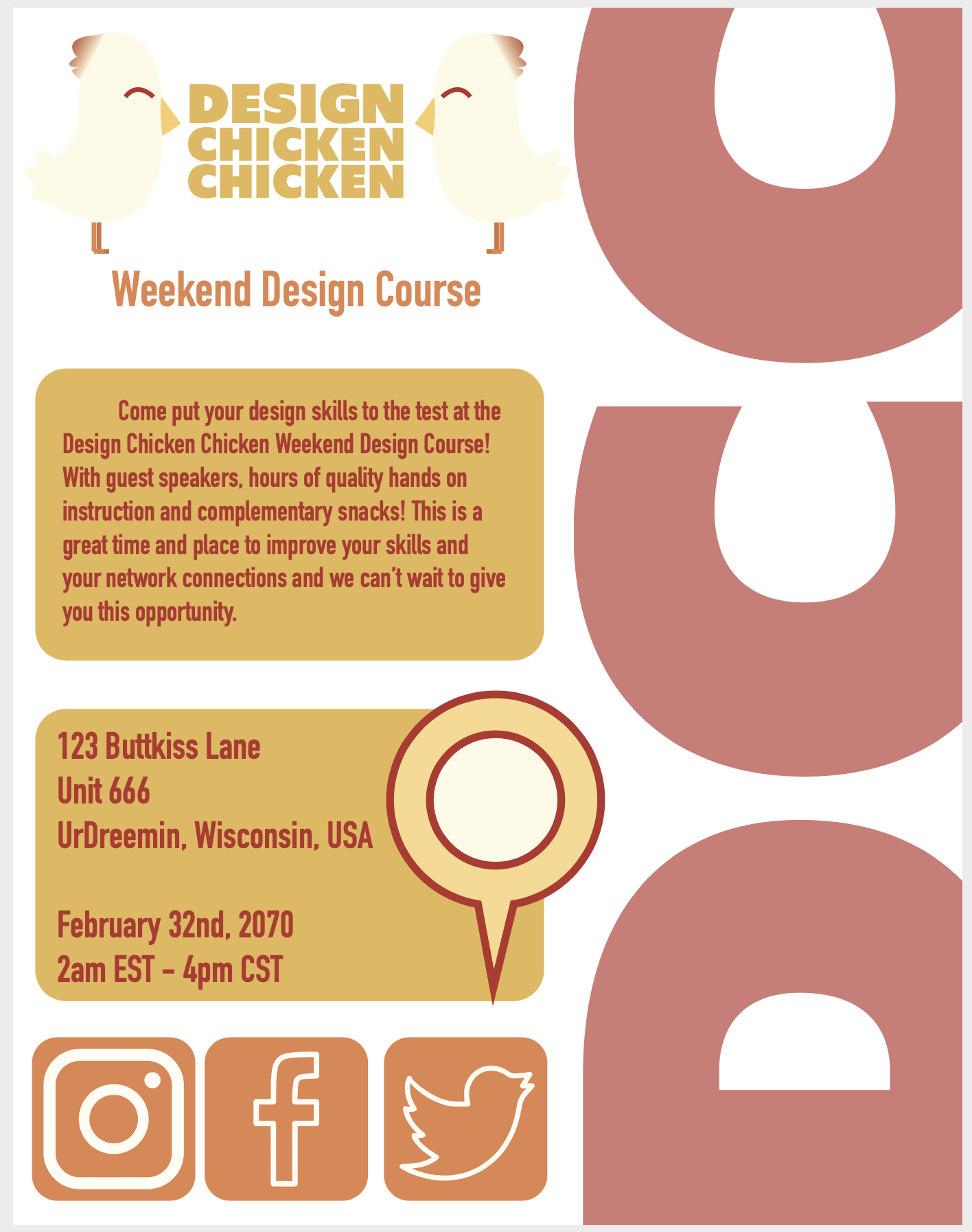 DCC Weekend Course Poster