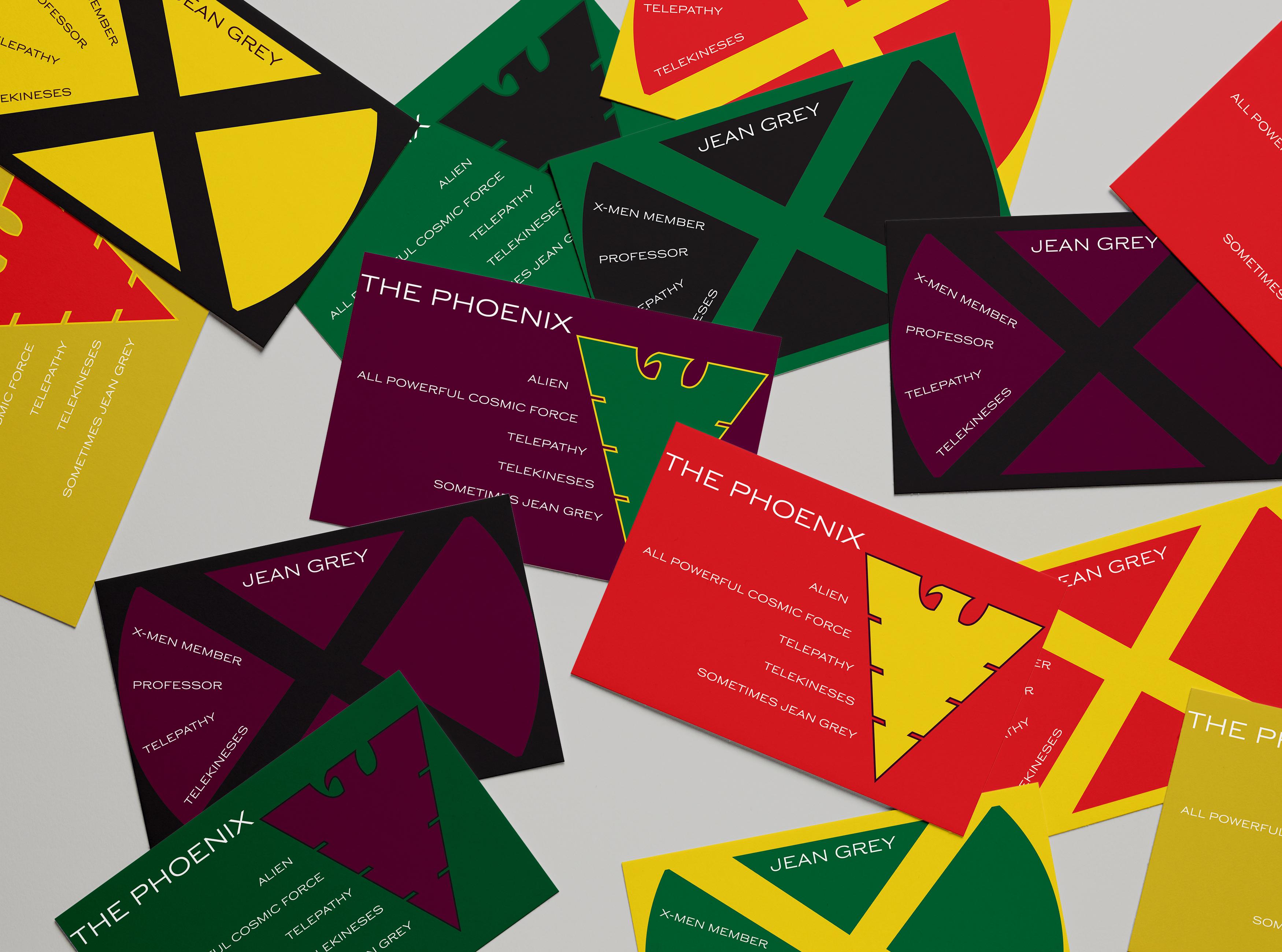 Jean Grey / Phoenix Business Card Mockup 1