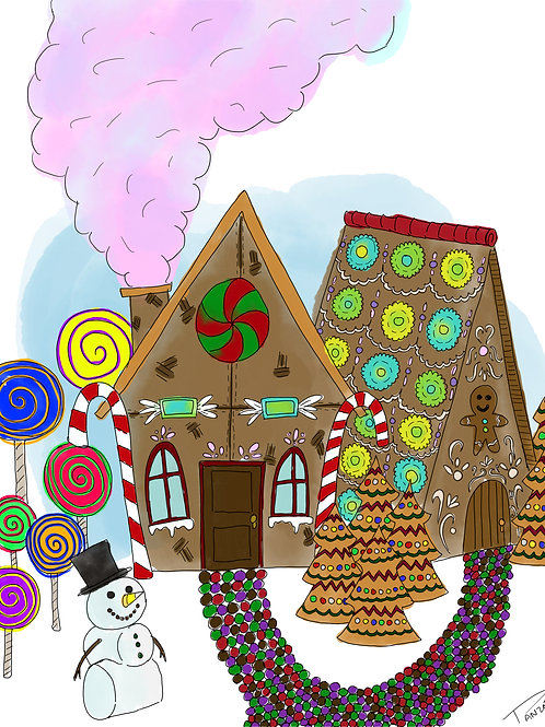 Ginger Bread Lane Coloring Page