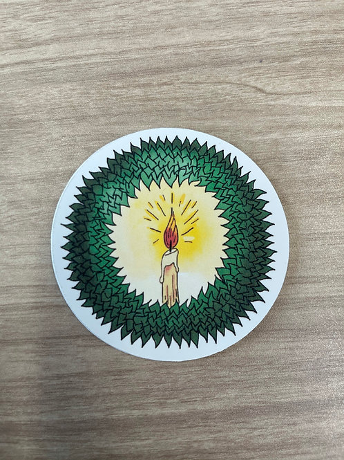 Wreath Sticker