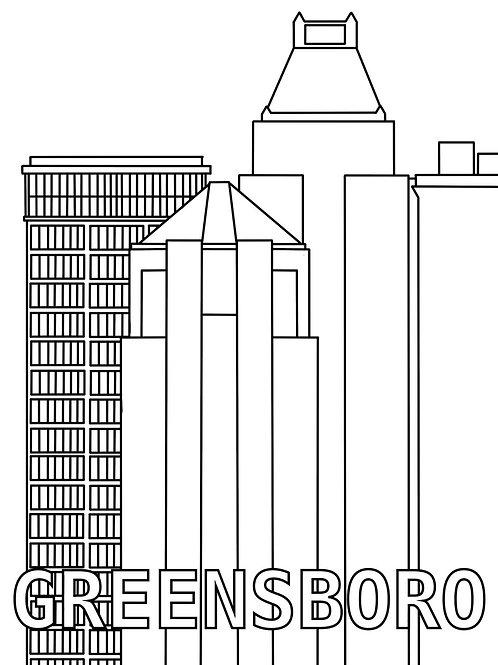 Greensboro Coloring Page