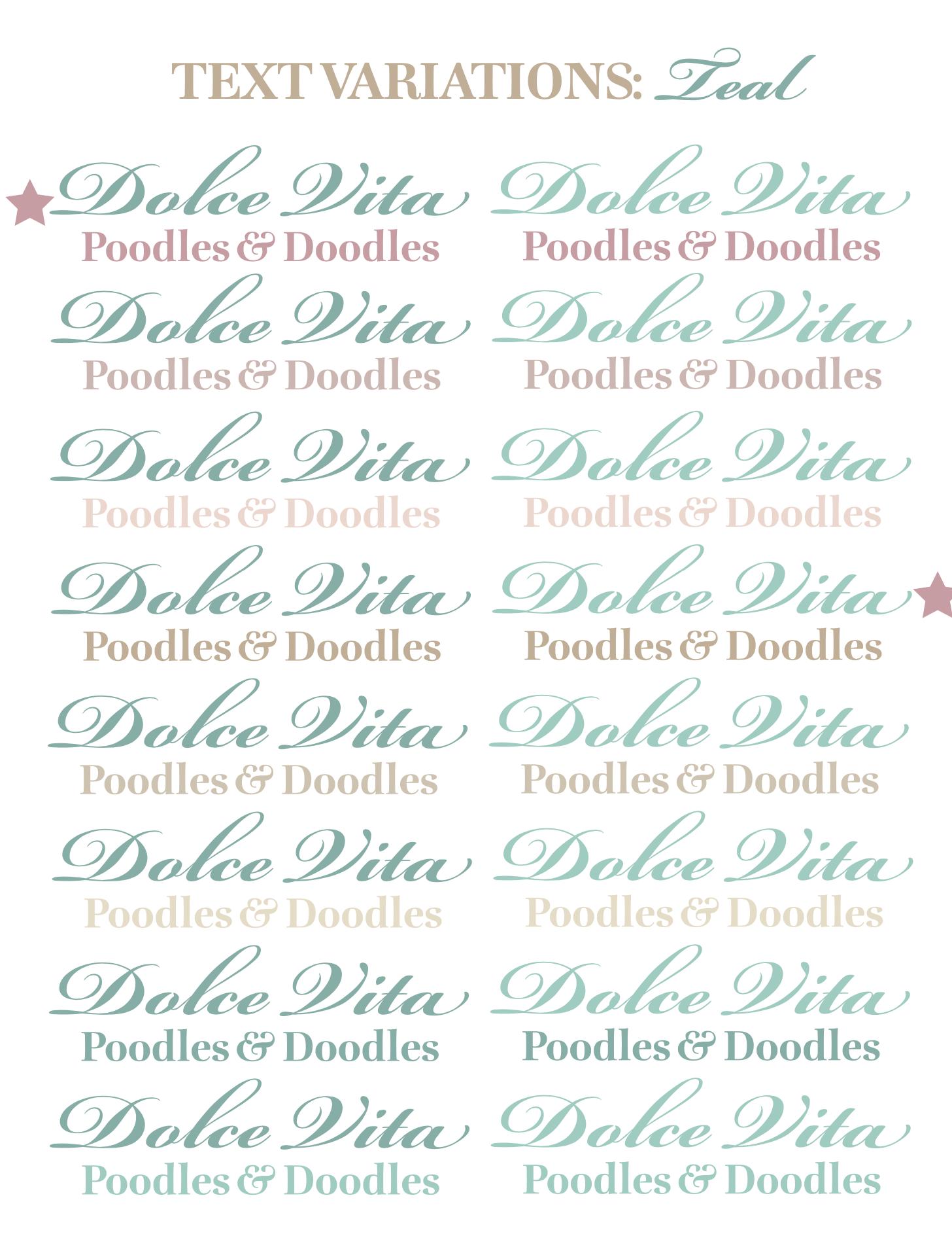 Dolce Vita Text Variations 2