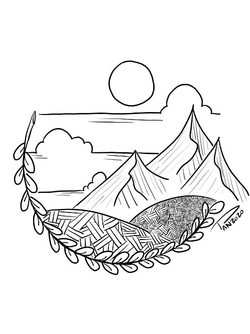 Branch Mountain Coloring Page