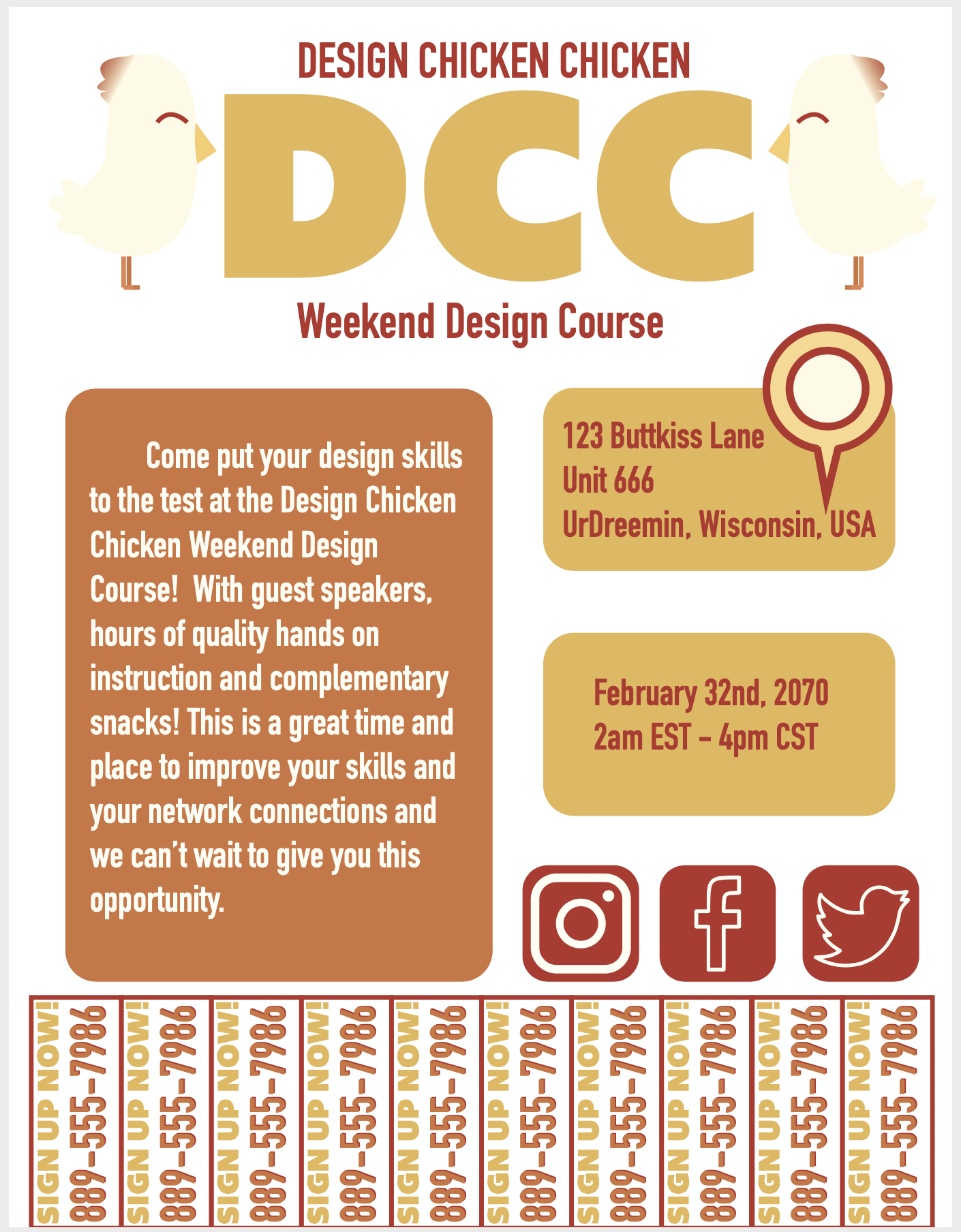 DCC Weekend Course Flyer