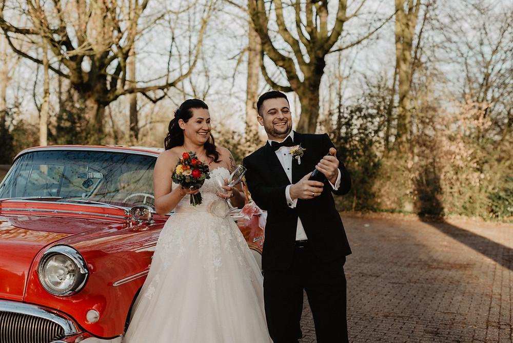 Oldtimer bei der Hochzeit in Rheinberg