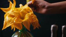 Pumpkin Flower Fritters