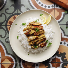 Delicious Pan-Fried Chicken with Coriander and Mint