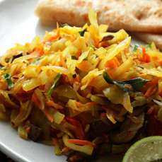 Delicious Mixed Cabbage Bhaji With Carrot and Mushroom