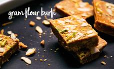 Gram Flour Burfi / Besan Barfi
