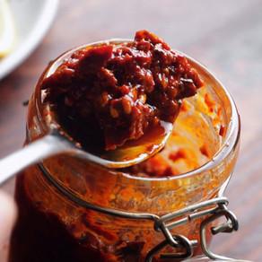 Homemade Harissa Chili Oil