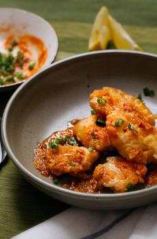 Crispy fish in chilli garlic sauce