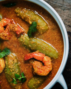 Potol & Shrimp Malai Curry