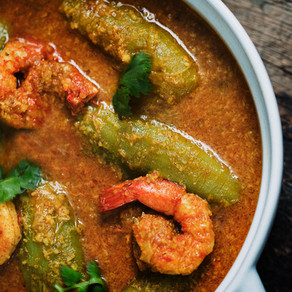 Potol & Shrimp Malai Curry