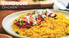 Tandoori Chicken with Yellow Rice