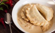 Dudh puli pitha / Sweet Coconut Dumplings
