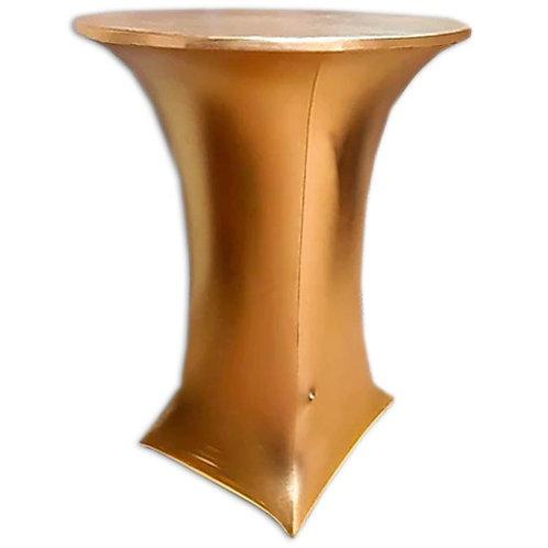 Cтрейч чехол на коктейльный стол (золотая парча)