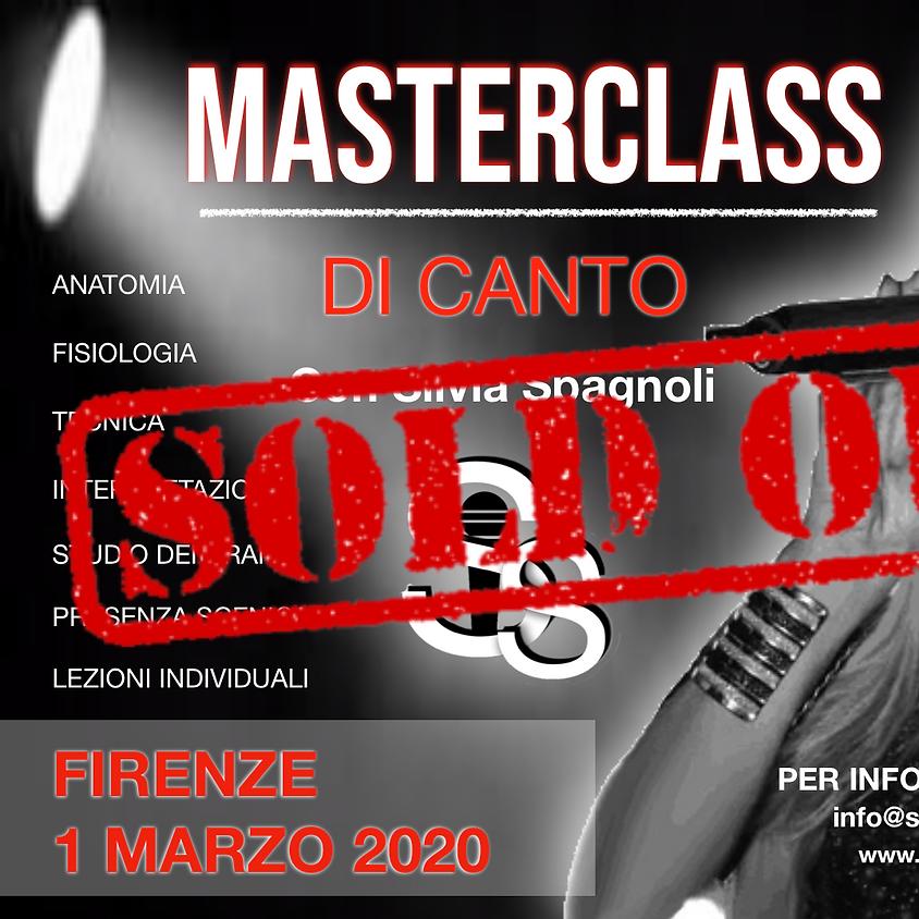 Masterclass di canto con Silvia Spagnoli a Firenze