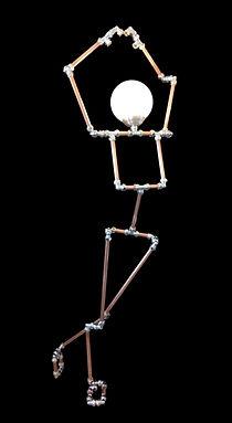 Lamp Girl, Lux Vortex, Light Art, Sculpture, Chandelier, Lighting