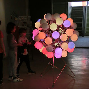 Loods 6, Lux Vortex, Light Art, Sculpture, Chandelier, Lighting
