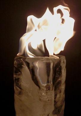 Fire and Ice, Lux Vortex, Light Art, Sculpture, Chandelier, Lighting