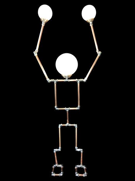 Lamp Chimp, Lux Vortex, Light Art, Sculpture, Chandelier, Lighting