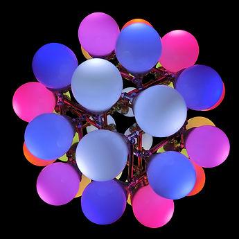 Tesseract, Lux Vortex, Light Art, Sculpture, Chandelier, Lighting