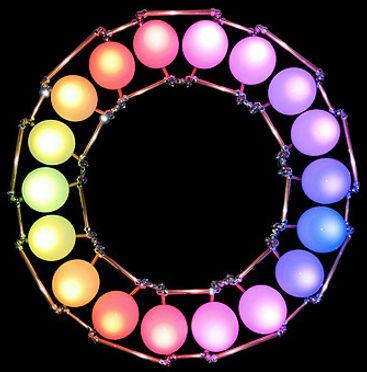 The Circle, Lux Vortex, Light Art, Sculpture, Chandelier, Lighting
