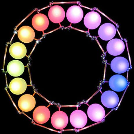 The Circle, Light Art, Light Art, Sculpture, Chandelier, Lighting