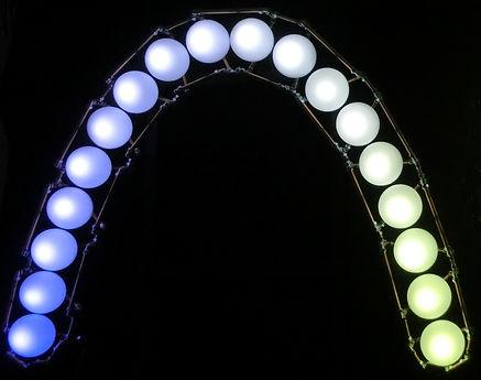 The Arch, Lux Vortex, Light Art, Sculpture, Chandelier, Lighting
