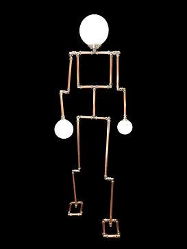 Lamp Man, Lux Vortex, Light Art, Sculpture, Chandelier, Lighting