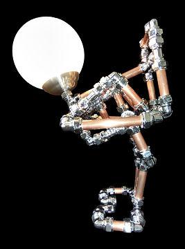Lamp Chicken, Lux Vortex, Light Art, Sculpture, Chandelier, Lighting