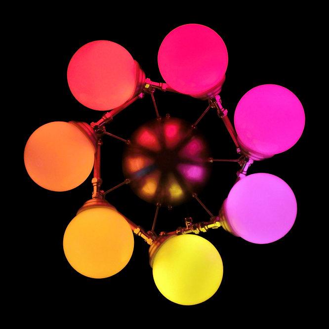 Harmony, Lux Vortex, Light Art, Sculpture, Chandelier, Lighting