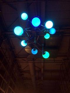 Rue Pare, Lux Vortex, Light Art, Sculpture, Chandelier, Lighting