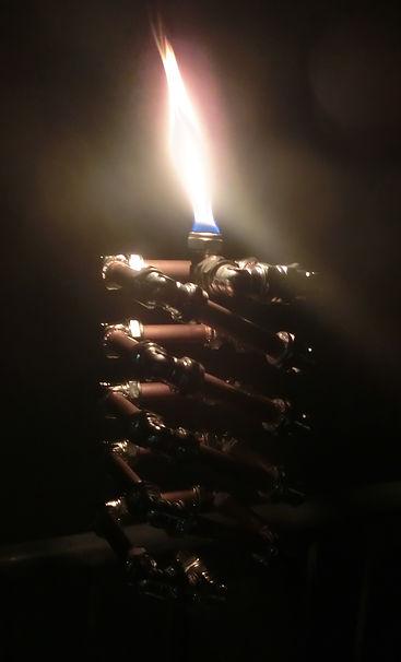 Slinki Tiki, Lux Vortex, Light Art, Sculpture, Chandelier, Lighting