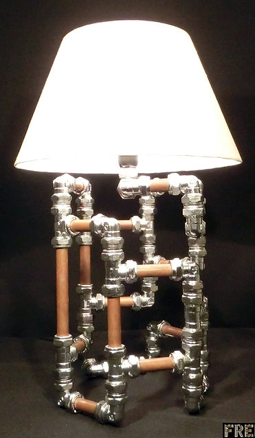 Coiled Lamp, Lux Vortex, Light Art, Sculpture, Chandelier, Lighting