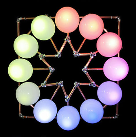 Sexagram, Lux Vortex, Light Art, Sculpture, Chandelier, Lighting