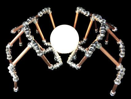 Lamp Spider, Lux Vortex, Light Art, Sculpture, Chandelier, Lighting
