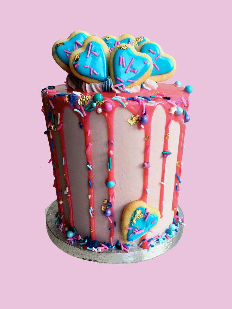 Drip Sugar Cookie Cake
