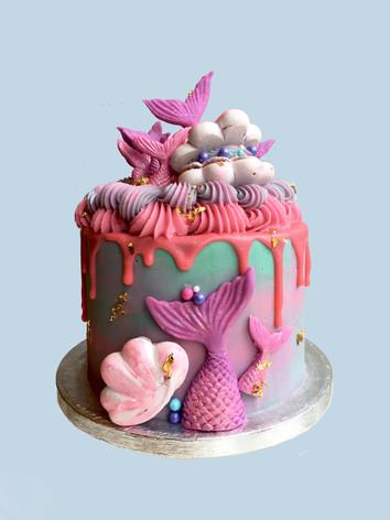 Mermaid Meringue Cake