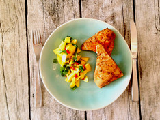 Cajun Swordfish & Mango Salsa