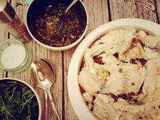 Polpo's Cod, Lentils & Salsa Verde