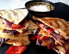 Red Pepper, White Bean & Red Onion Quesadillas